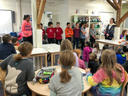 Middle School Students Visit Upper Elementary