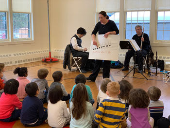Primary Students Make Music with the City Winds Trio