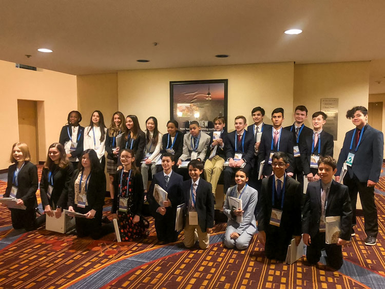 Red Oaks 7th and 8th graders at MMUN