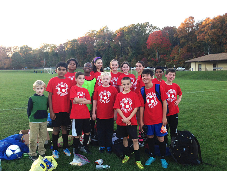 Middle School co-ed soccer team